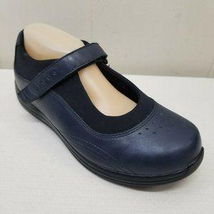 Drew 9WW Navy Blue Orthopedic Comfort Shoes ROSE